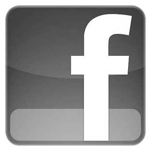 facebook logo grey